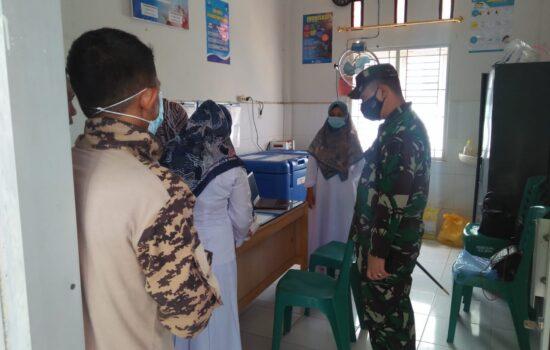 Dandim 0102/Pidie Tinjau Kesiapan Posko Pelayanan Vaksin Dalam Rangka Program Percepatan Vaksinasi Nasional