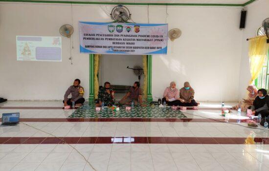 Unsur Muspika kecamatan Susoh, Sosialisasi Tentang PPKM MIKRO