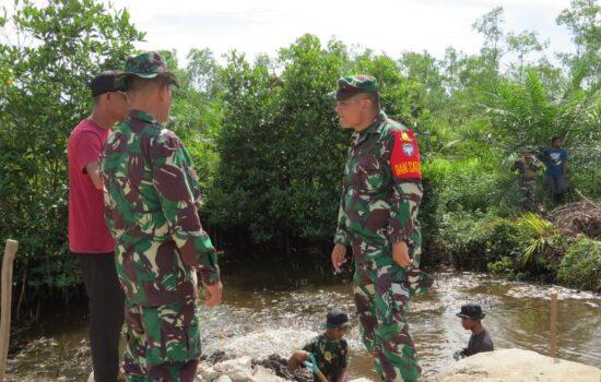 Tinjau Kemajuan TMMD ke-111, Dandim 0109/Aceh Singkil Turun ke Lokasi