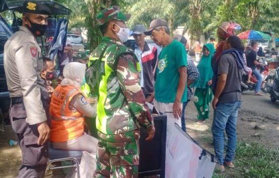 Kodim 0116/Nagan Raya, Polres, Satpol PP dan Dinkes Laksanakan Patroli Prokes Covid -19