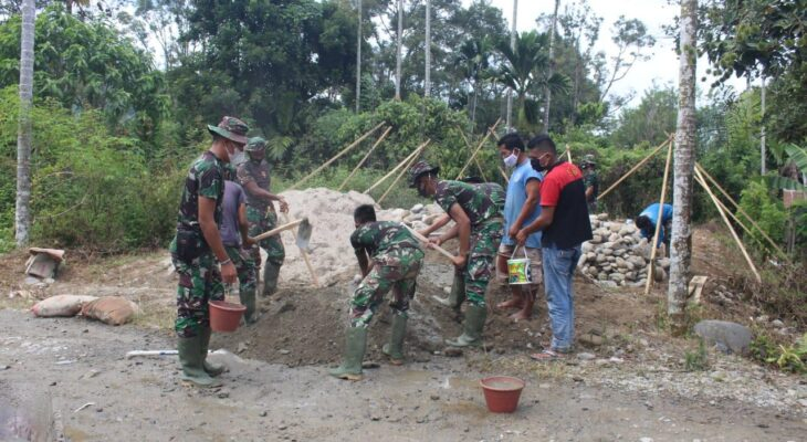 Peduli Pemerataan Kesejahteraan Rakyat, Satgas TMMD Bangun RTLH