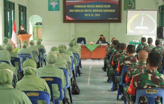 Tingkatkan Profesionalisme dan Mental, Personil dan PNS Serta Persit Kodim Aceh Selatan Ikuti Penyuluhan Pembinaan Mental