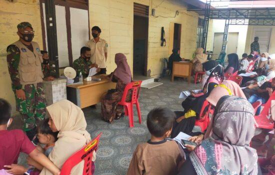 Persit dan Warakauri Kodim Aceh Selatan Kembali Jalani Vaksinasi Covid-19 Tahap II