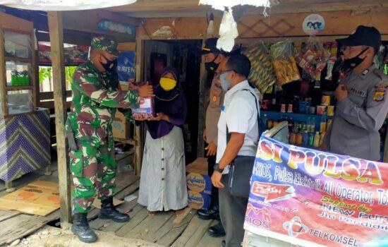 Dimasa Pemberlakuan PPKM MIKRO Unsur Muspika Kecamatan Bagi-Bagi Sembako