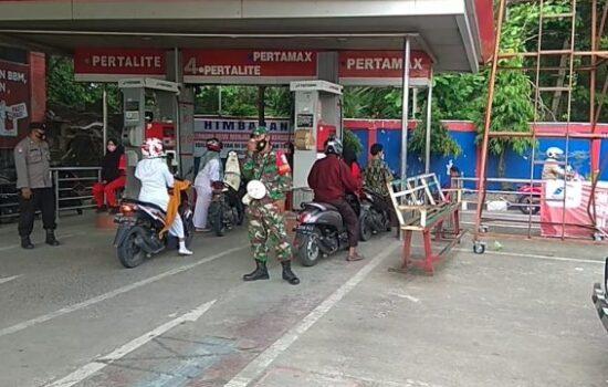 TNI dan Polri Himbau Masyarakat Mutiara, Pidie Agar Selalu Patuhi Prokes