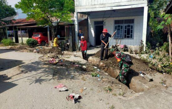 Cegah Terjadinya Banjir, Koramil 05/Lawe Alas Gotroy