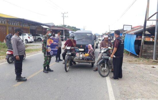 Tiga Pilar dan Satgas Covid-19 Labar Lakukukan Penegakan PPKM Darurat di Perbatasan Aceh Selatan – Abdya