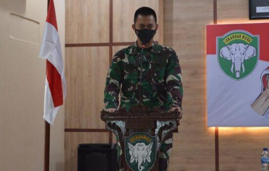 Dandim 0103/Aceh Utara; Optimalkan Profesionalitas Babinsa dalam Menjalankan Tugas.