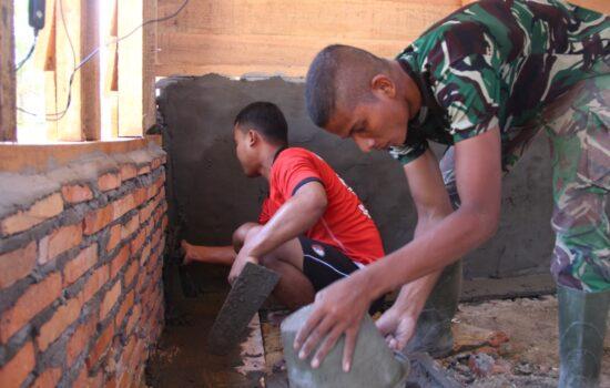 Rumah Milik Yusuf Sasaran RTLH, Masuk Tahap Plaster Diding Bata