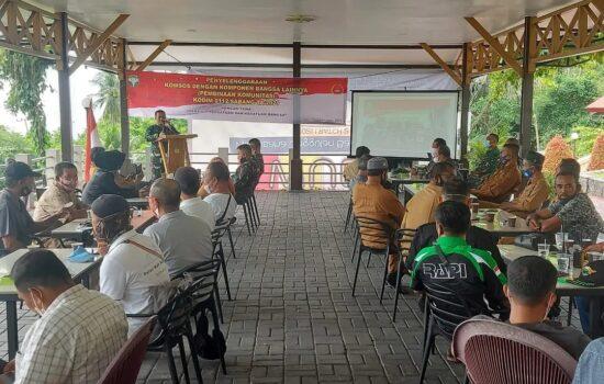KODIM 0112/SABANG SELENGGRAKAN KOMUNIKASI SOSIAL DENGAN KOMPONEN BANGSA DI KOTA SABANG