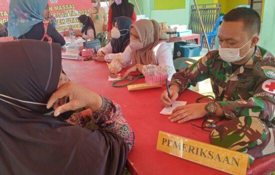 Pengobatan Massal di Gelar Satgas TMMD Ke 112 TA. 2021 Kodim 0103/Aceh Utara