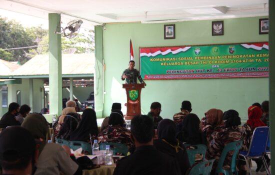 Kodim 0104/Atim Gelar Pembinaan Peningkatan Kemampuan Keluarga Besar TNI