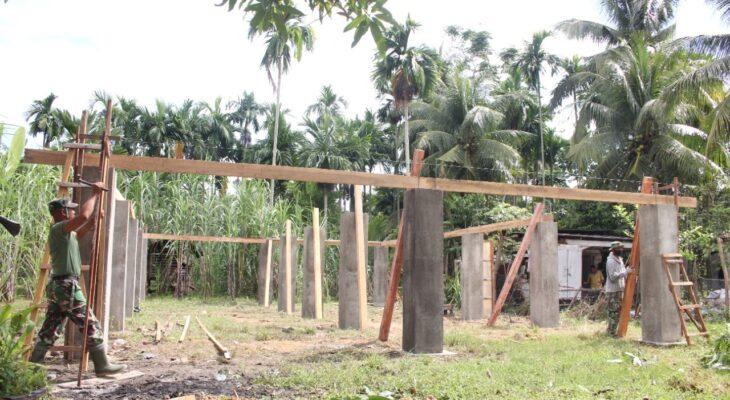 Satgas TMMD 112, Kejar Pembangunan Bale Pengajian Darul Kamil Al-Kiram