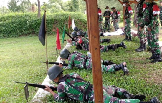 Kodim Aceh Jaya Selenggarakan Latihan Menembak Triwulan Ketiga
