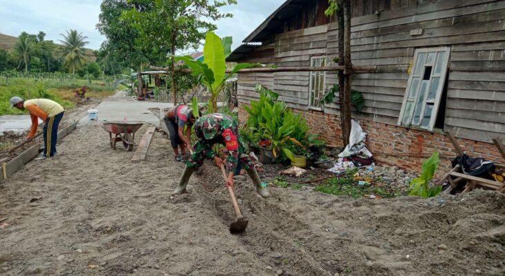 Pembangunan Rabat Beton Desa Tanoh Alas Dibangun
