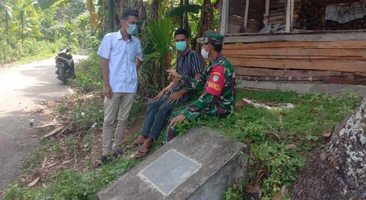 Melalui Komsos, Koptu Suherman Himbau Warga Desa Binaannya Tidak Kendor Menerapkan Protkes