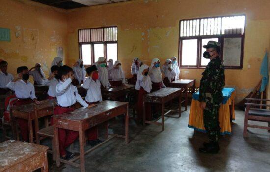 Serda Jupri Sembiring Berikan Wasbang Pada Siswa Sekolah Dasar
