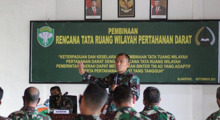 Kodim Abdya Gelar Pembinaan RTRW Pertahanan Darat