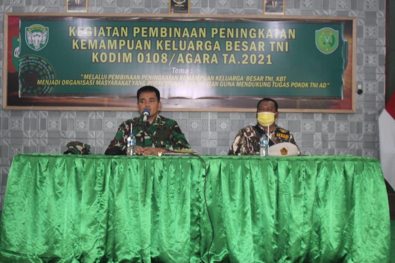 Kodim 0108/ Agara Gelar Silaturahmi Dengan Keluarga Besar TNI /FKPPI